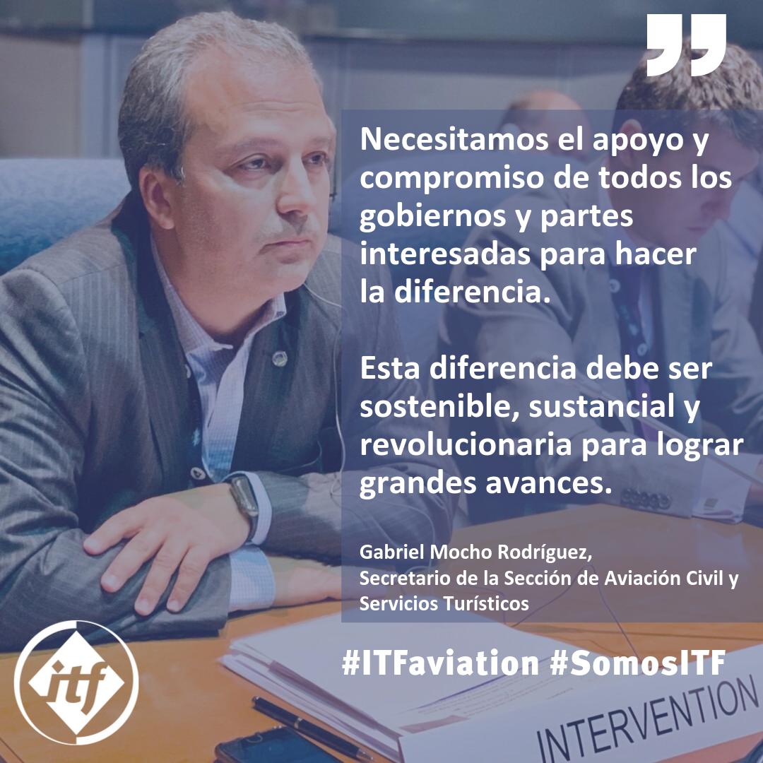 Delegación de la ITF en la asamblea de la OACI